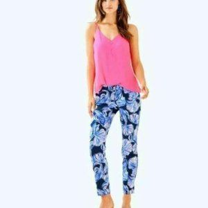 NWT Lilly Pulitzer pants Kelly skinny ankle waterl